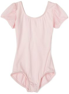 Amazon.com: Capezio Girls 7-16 Puff Sleeve Leotard,Pink,M (8-10), L(12-14) $19