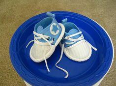 Gumpaste Converse Baby Sneakers