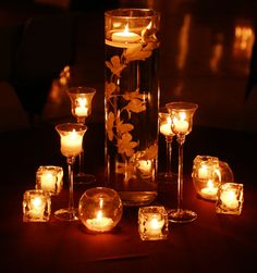 When using candles, have several heights and styles on each table for visual interest.