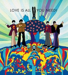 Love Is All You Need. The Beatles' Yellow Submarine.  Art by Heinz Edelmann