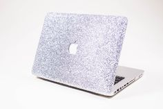 SILVER- Glitter Macbook Case for Macbook Air,  Macbook Pro, + Macbook Pro with Retina Display by EmbriShop on Etsy https://www.etsy.com/listing/171848096/silver-glitter-macbook-case-for-macbook