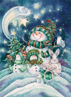 *SNOW-FAMILY ~ May Kindness be the light that shines from your eyes...Love the song that lifts the carols and JOY the gift that changes the world.