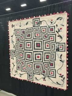 Log cabin with a lens quilt. Original pattern by lerusisik