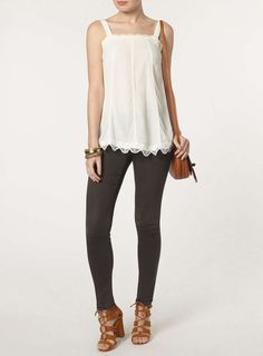 Ivory Lace Shell Top