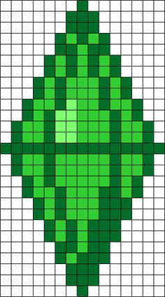 Sims Plumbob Perler Bead Pattern / Bead Sprite