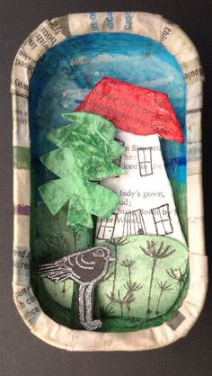 Little house in a sardine tin by lynnydeedesigns on etsy