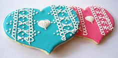 lace heart cookies by sgodlove, via Flickr