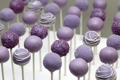 purple cake pops | Purple Cake Pops | Flickr - Photo Sharing!