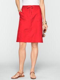 Talbots - Twill Utility Skirt | New Arrivals | Misses