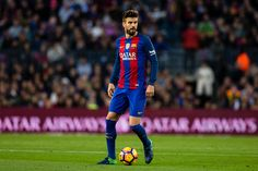 The FC Barcelona player Gerard Pique from Spain during the La Liga match between FC Barcelona vs Malaga CF at the Camp Nou stadium on November 19...