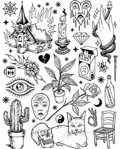 New tattoo flash – – Tattoo, Tattoo ideas, Tattoo shops, Tattoo actor, Tattoo art – Tattoo Sketches & Tattoo Drawings Kritzelei Tattoo, Doodle Tattoo, Poke Tattoo, Doodle Art, Flash Art Tattoos, Body Art Tattoos, Small Tattoos, 90s Tattoos, Tatoos