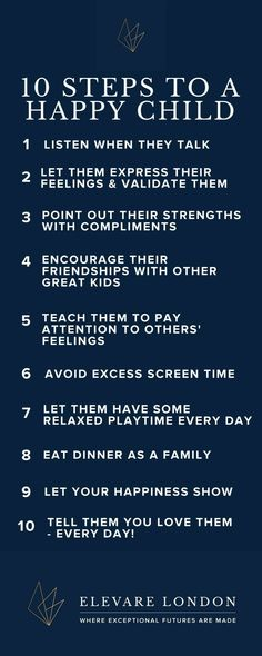 10 steps to a positive childhood.