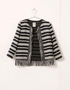Bershka fringe detail jacket - Coats & Jackets - Bershka Croatia