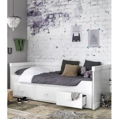 Rough bedbank / uitschuifbed Coming kids wit | Verwende Apen
