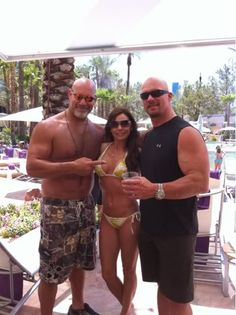 Bill Goldberg, his wife Wanda Ferraton, & Steve Austin