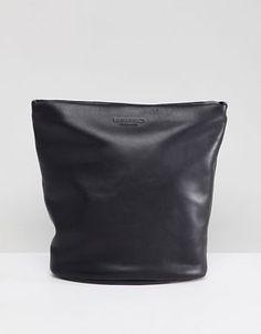 3c21734c85 Vagabond Madrid Black Leather Large Cross Body Bag Cross Body Bags