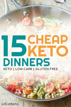 You can do keto on a budget. These cheap keto meals will give you the inspi… Yes! You can do keto on a budget. These cheap keto meals will give you the inspiration to create inexpensive low carb dinners in no time. Ketogenic Recipes, Low Carb Recipes, Diet Recipes, Healthy Recipes, Low Carb Cheap Meals, Lunch Recipes, Delicious Recipes, Curry Recipes, Egg Recipes