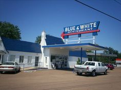 blue and white restaurant - Google Search
