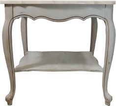 French Provincial Marble Side Table