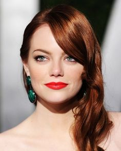 red hair / red lips