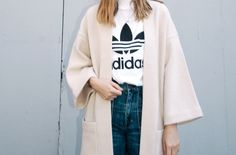 A Casual Cool Way To Wear An Adidas Tee