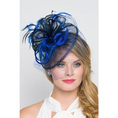 Royal Blue Fascinator Noor Royal Blue & Navy Fascinator Hat Headband... (3.495 RUB) ❤ liked on Polyvore featuring accessories, hair accessories, headbands & turbans, navy, headband hair accessories, hair fascinators, feather headband, royal blue headband and fascinator hat