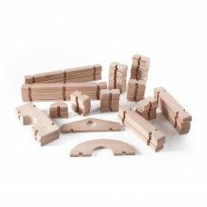 Wooden Blocks: Notch Blocks Set 89 pc