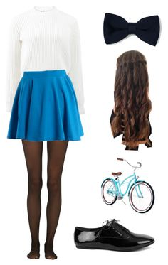 """""""riding your bicycle"""" by marilyng341 ❤ liked on Polyvore featuring T By Alexander Wang, Fogal and Zara"""