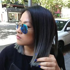 grey balayage short hair - Google Search