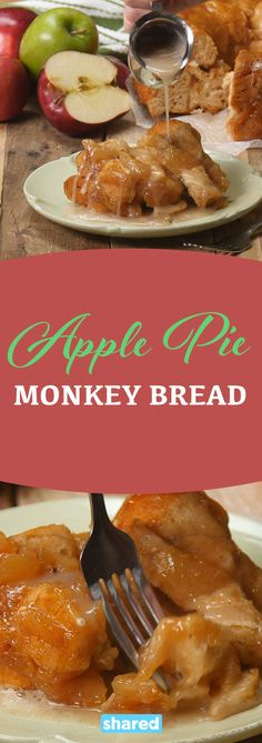 Monkey bread is one of my favorite treats to make. First, it's delicious. Second, you can have as much or as little of it as you'd like, so you don't have to feel bad if you only want to try a 'sample'. Finally, it's fantastic for sharing- not that you would want to share this Apple Pie Monkey Bread when it comes out of the oven, warm and smelling delicious.  You be the judge.