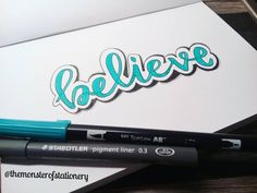 103 vind-ik-leuks, 5 reacties - Stationery Monster (@themonsterofstationery) op Instagram: 'Hi everyone! #believe is the second #word in my #awordadayjournal For this word I wanted to try…'