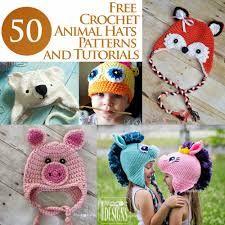 Bildergebnis für animal hats crochet