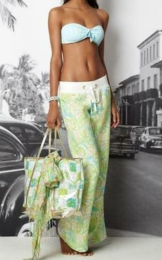 I wish I was tall (and lean!) enough to pull off the Lilly beach pants without looking like I'm about to parachute out of a plane...