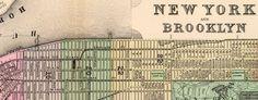 Mitchell's #Map of #Manhattan and #Brooklyn (1890) #nyc -- http://www.bigmapblog.com/2012/mitchells-map-of-manhattan-and-brooklyn-1890/