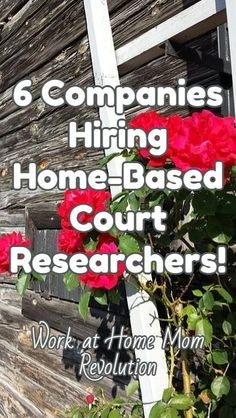 6 Companies Hiring Home-Based Court Researchers! / Work at Home Mom Revolution Money Making Ideas, Making Money, #MakingMoney