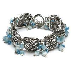 clouds of blue cluster bracelet