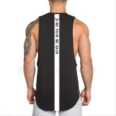 NO PAIN NO GAIN stringer gym sleeveless T-shirts- Men  #Connect2day