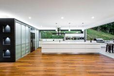 Designer Küche Kochinsel weiß corian mineralwerkstoff