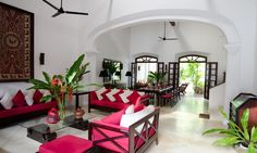 39 Galle Fort is a lovely private 3 bedroom villa offering space, privacy and comfort with an old world charm. Old World Charm, Luxury Villa, Sri Lanka, Space, Bedroom, Sweet, Furniture, Home Decor, Luxury Condo