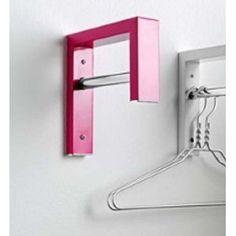 Wandgarderobe Garderobe pink aus Metall mit Edelstahl Stange Neu: Amazon.de: Küche & Haushalt