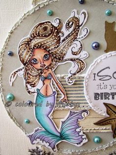 Welcome to Marions-scrapcards: Saturated Canary ~ SC Evie ~ Copics not listed;  Dies: Joy Crafts 'Under the Sea'