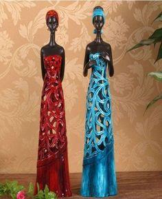 african woman figurine - Buscar con Google