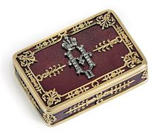 Russian snuffbox by Faberge.