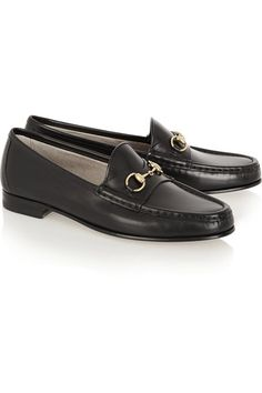 Gucci | Leder-Loafers mit Horsebit-Detail | NET-A-PORTER.COM