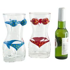 Bikini Beer Glass (Set of 2)