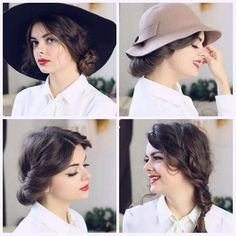 Three hairstyles that look cute with a hat, and still look cute when you take the hat off. Now up on my channel! 😃👒
