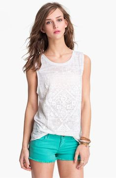 Our Ten Sixty Sherman Burnout Tank (Juniors) available at Nordstrom