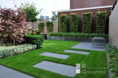 Landscape Gardening Newark On Trent. Modern Garden Design, Contemporary Garden, Landscape Design, Back Gardens, Small Gardens, Outdoor Gardens, Modern Landscaping, Backyard Landscaping, Garden Floor