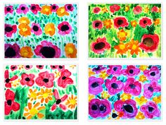 roselles, primavera, pintura