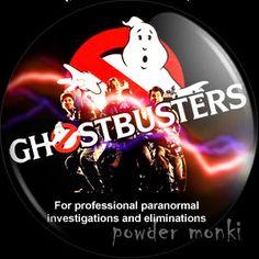 Retro Movie Badge/Magnet - Ghostbusters ~ www.powdermonki.co.uk ~ £0.99